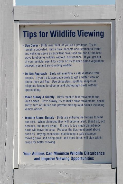 Helpful Instructional Signage