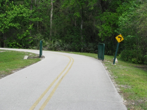 Sharp turn on trail