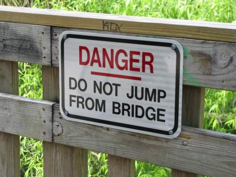 Warning sign...really?