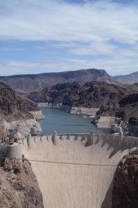 The Hoover Dam image taken from the Mike O'Callaghan-Pat Tillman Memorial Bridge